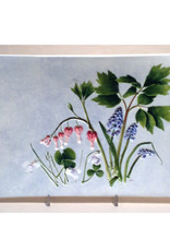 "Tray  14"" x 8"" Bleeding Heart Violets"