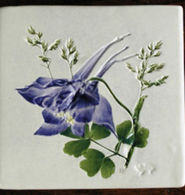 "Trivet or Tile 4.25"" Columbine"