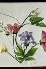 """Trivet or Tile 4.25"""" Grape Lilac Wild Geranium Buttercup"""