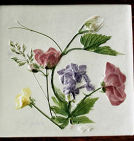 "Trivet or Tile 4.25"" Grape Lilac Wild Geranium Buttercup"