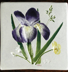 """Trivet or Tile 4.25"""" Iris"""