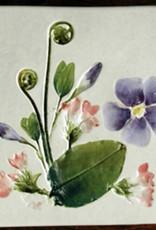 """Trivet or Tile 4.25"""" Mayflower Vinca"""