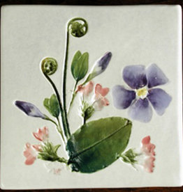 "Trivet or Tile 4.25"" Mayflower Vinca"