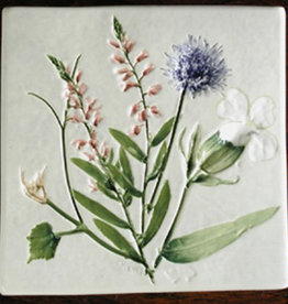 "Trivet or Tile 4.25"" Polypolygala Polygama Jasione Lychnis"