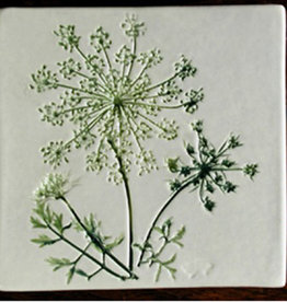"Trivet or Tile 4.25"" Queen Anne's Lace"