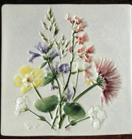 "Trivet or Tile 4.25"" Snow in Summer Catmint"