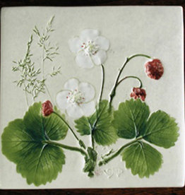 "Trivet or Tile 4.25"" Willd Strawberry Berries"