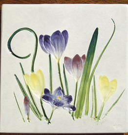 "Trivet or Tile 6"" Square Crocus"