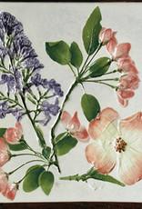 "Trivet or Tile 6"" Square Dogwood Cherry Lilac"