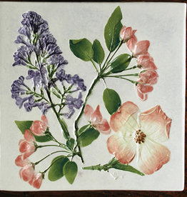 "Trivet or Tile 6"" Square Dogwood Cherry Lilac"