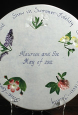 "Personalized Trivet 8"" Round Wedding Wishes"
