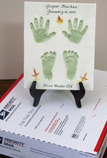 "Baby Print Kit Age 6 to 12 Months, To make one, only, Baby Print, 11"" x 9"", approximately , for a child 6 - 12 months."