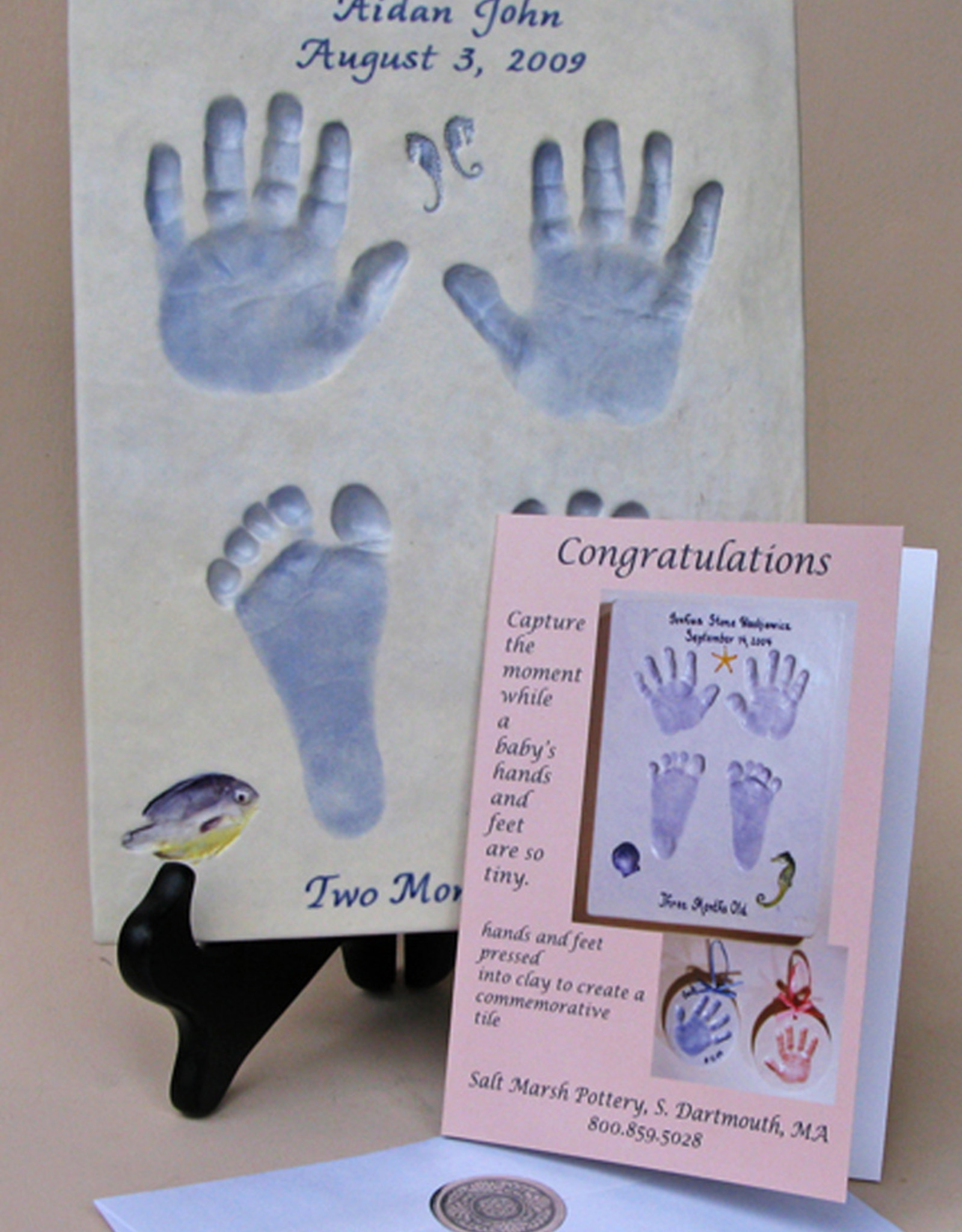 """Gift Certificate for 9"""" Baby Print, 0 - 6 Months"""