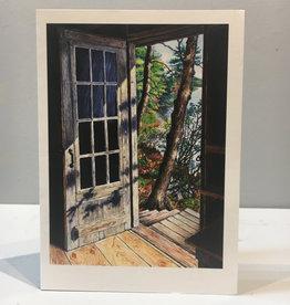 Note Card Cabin Door