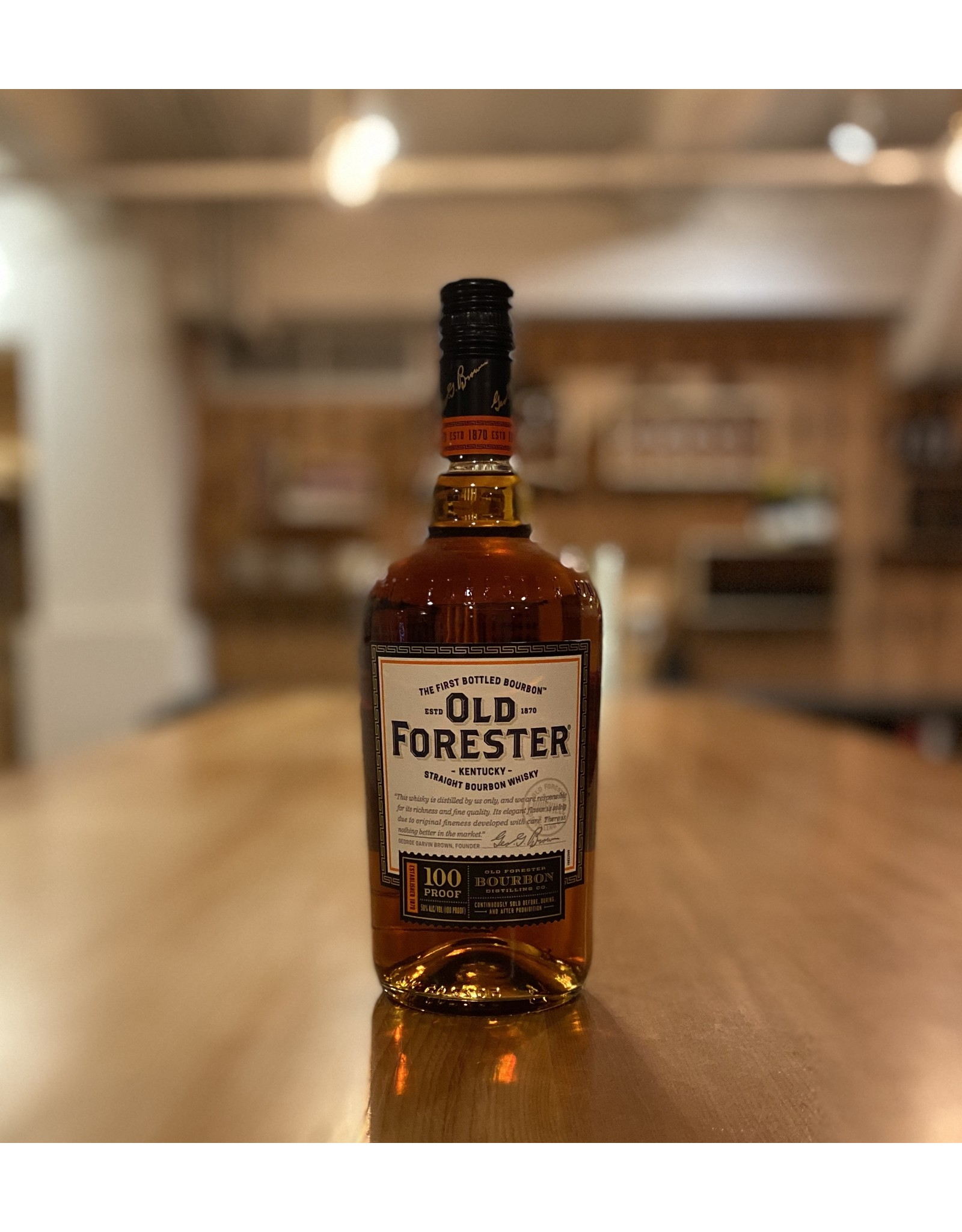 Bourbon Old Forester 100 Proof Straight Bourbon Whiskey - Louisville, KY