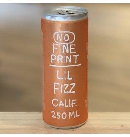Can Wine No Fine Print ''Lil Fizz'' Sparling White Wine 2019 Can 250ml - Sonoma, CA