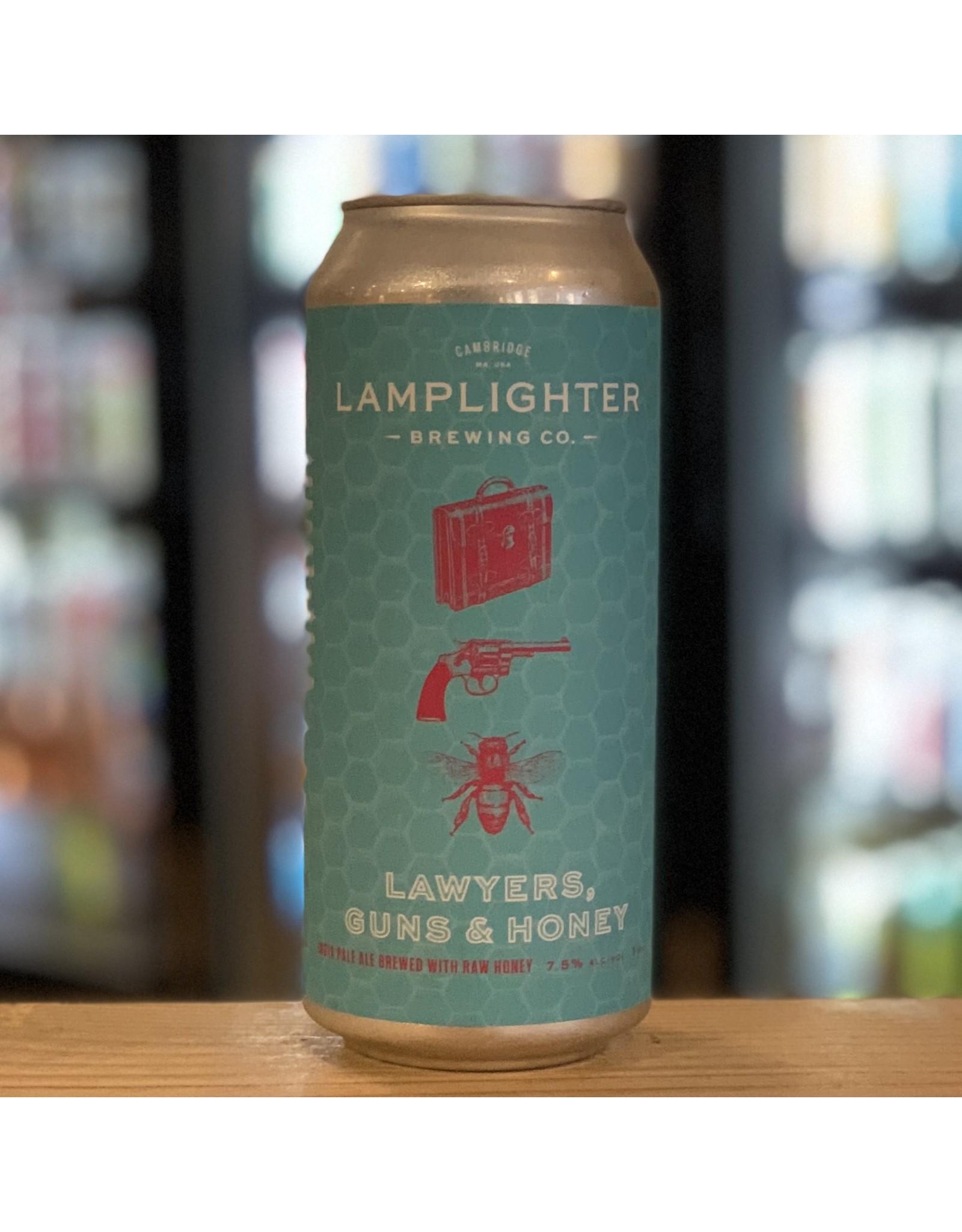 IPA Lamplighter Brewing ''Lawyers Guns and Honey'' IPA w/Honey - Cambridge, MA