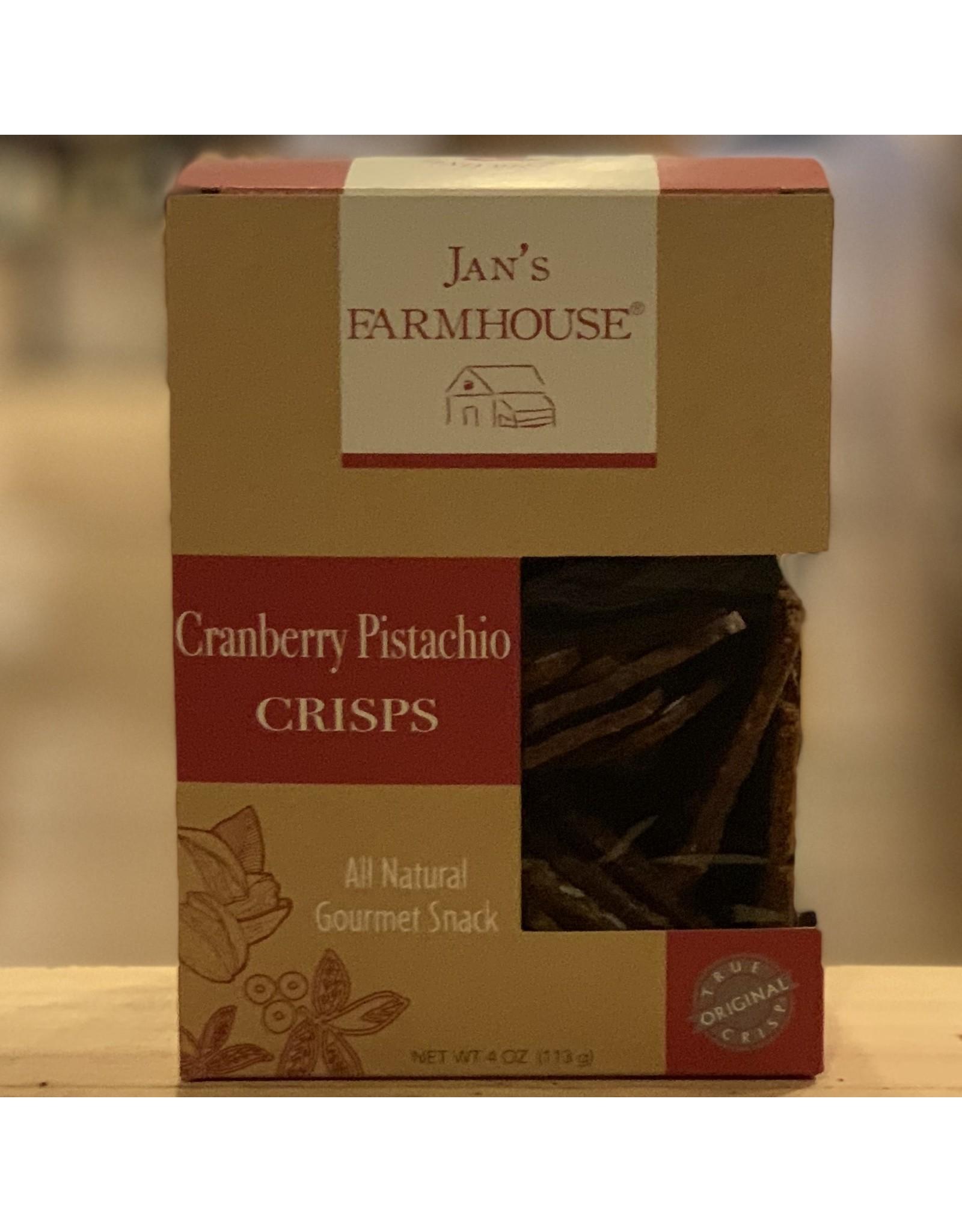"""Cracker Jan's Farmhouse """"Cranberry Pistachio"""" Crisps - Stowe, Vermont"""