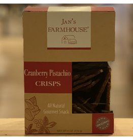"Cracker Jan's Farmhouse ""Cranberry Pistachio"" Crisps - Stowe, Vermont"