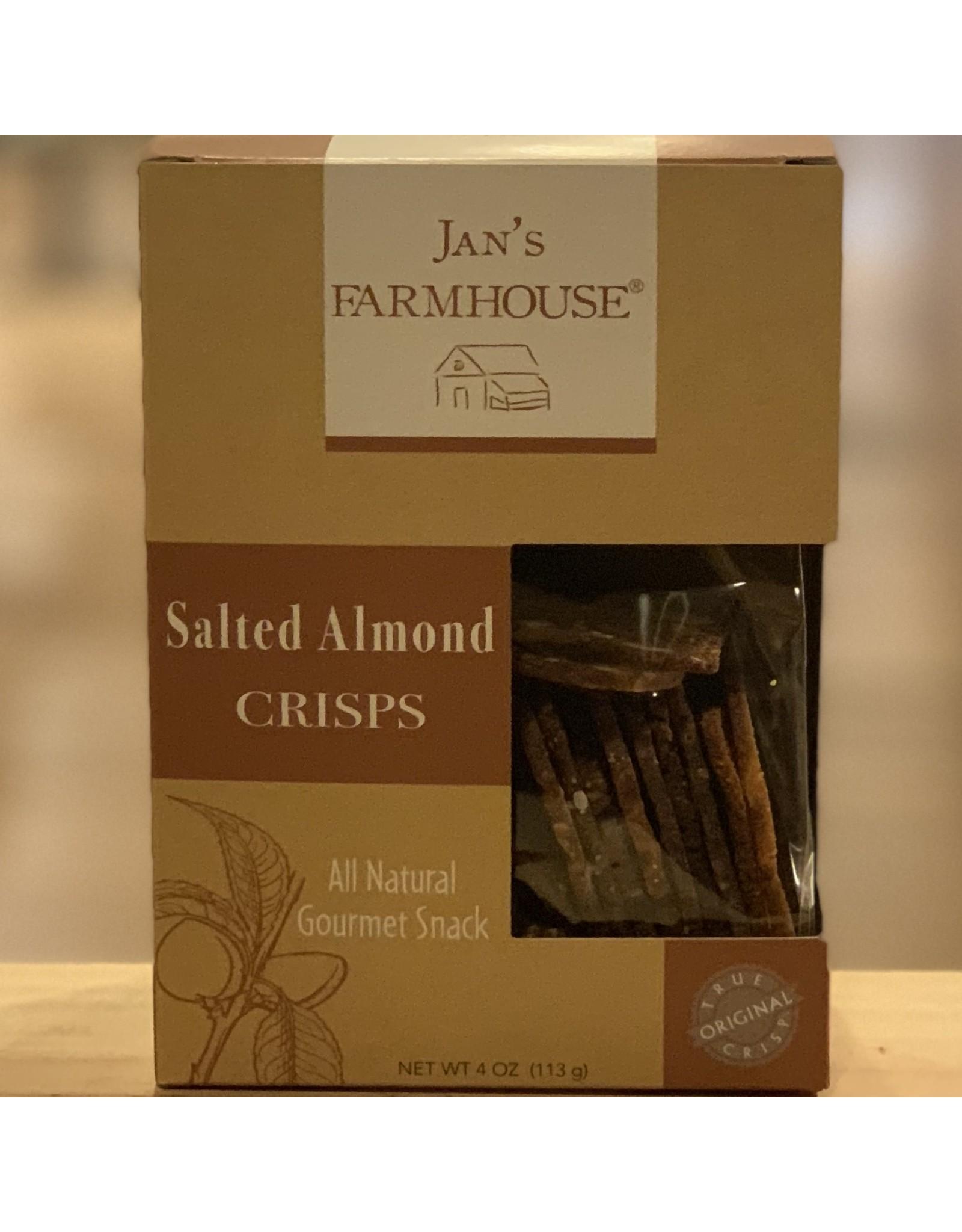 Cracker Jan's Farmhouse ''Salted Almond'' Crisps - Stowe, Vermont