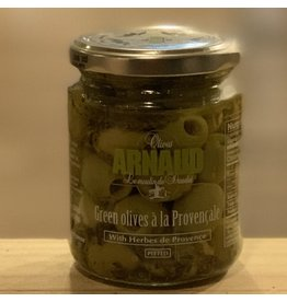 Olives Olives Arnaud ''Green Olives a la Provencale'' Pitted Green Olives w/Herbes de Provence - Provence, France