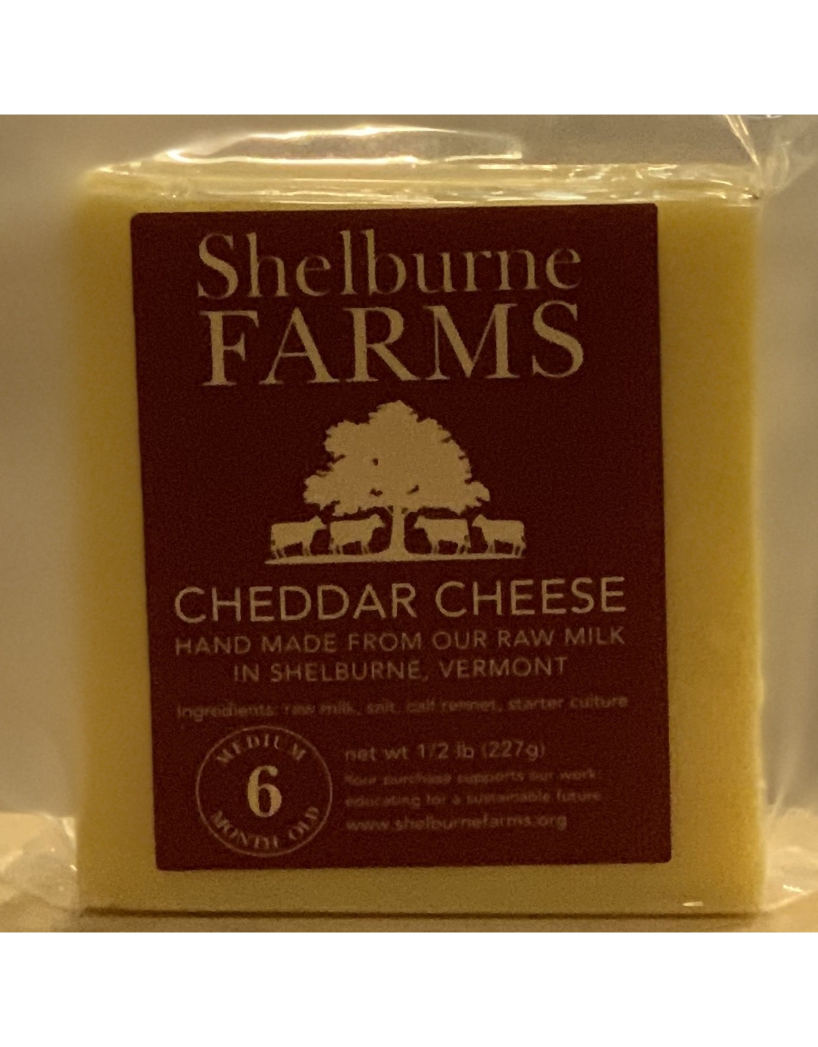 Cheese Shelburne Farms Cheddar Cheese 6 month