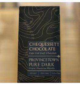 "Chocolate Chequessett Chocolate ""Provincetown Pure Dark"" Dark Chocolate  Bar - North Truro, MA"