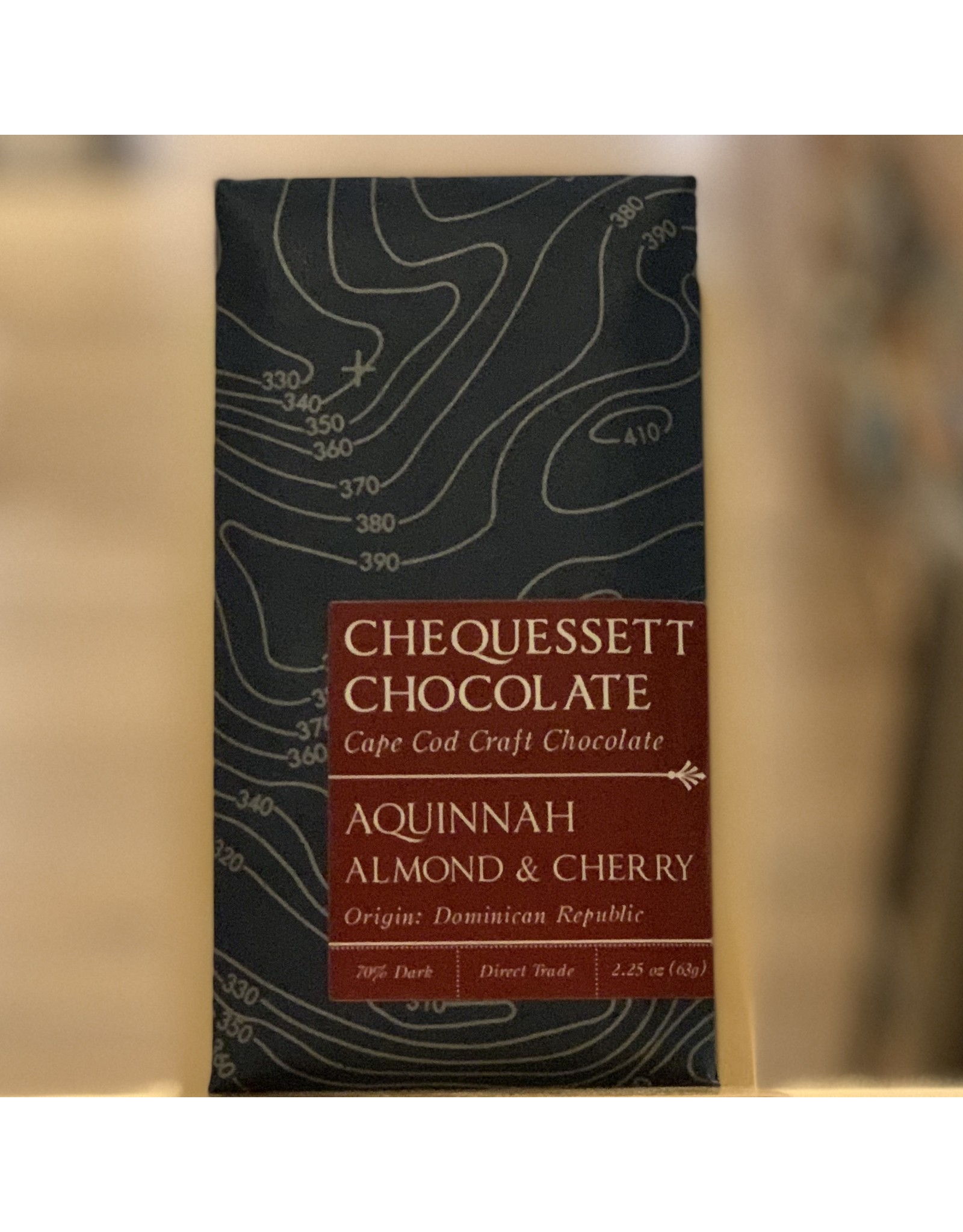 Chocolate Chequessett Chocolate Cherry Almond Bar