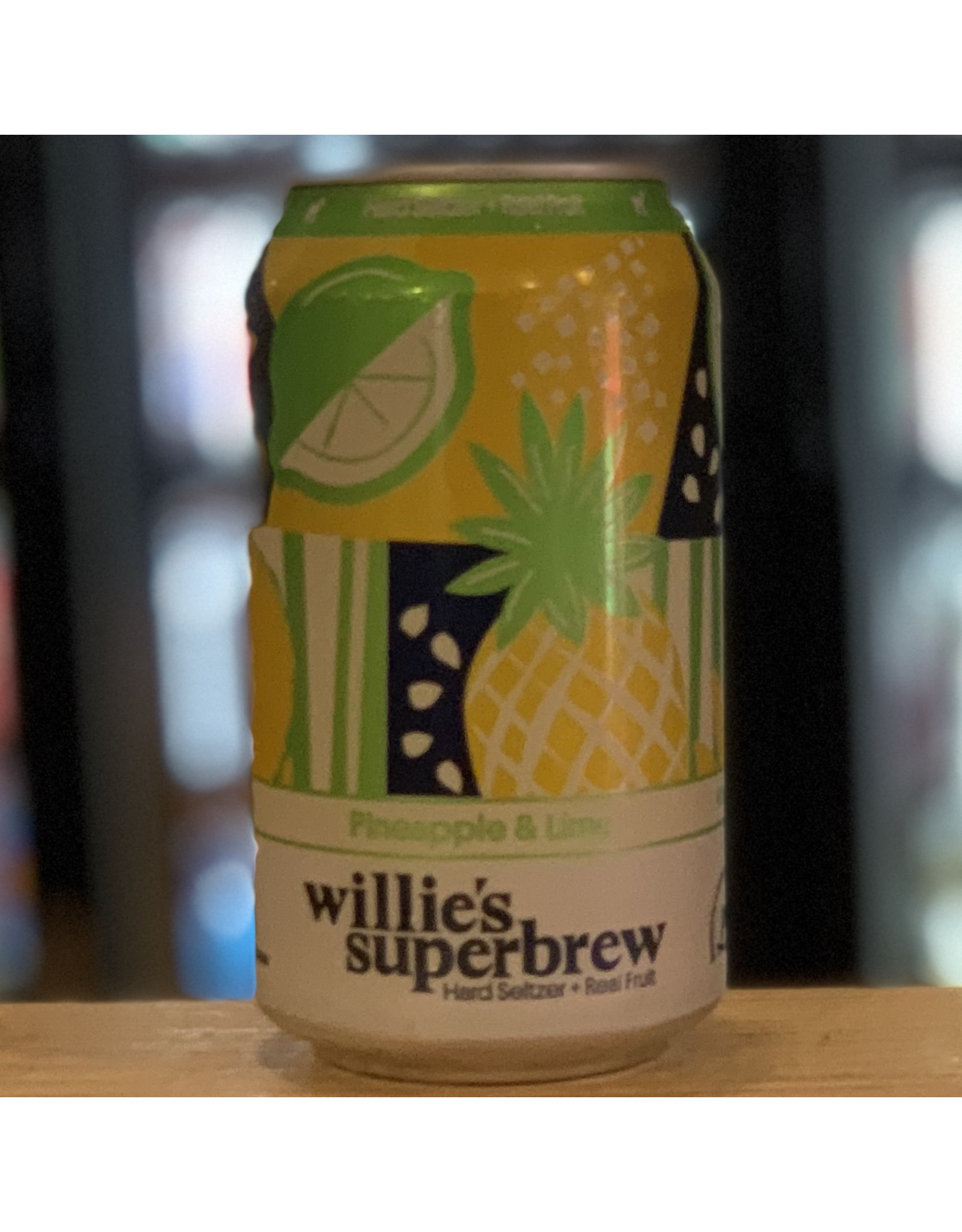 Hard Seltzer Willie's Superbrew Hard Seltzer w/Pineapple & Lime
