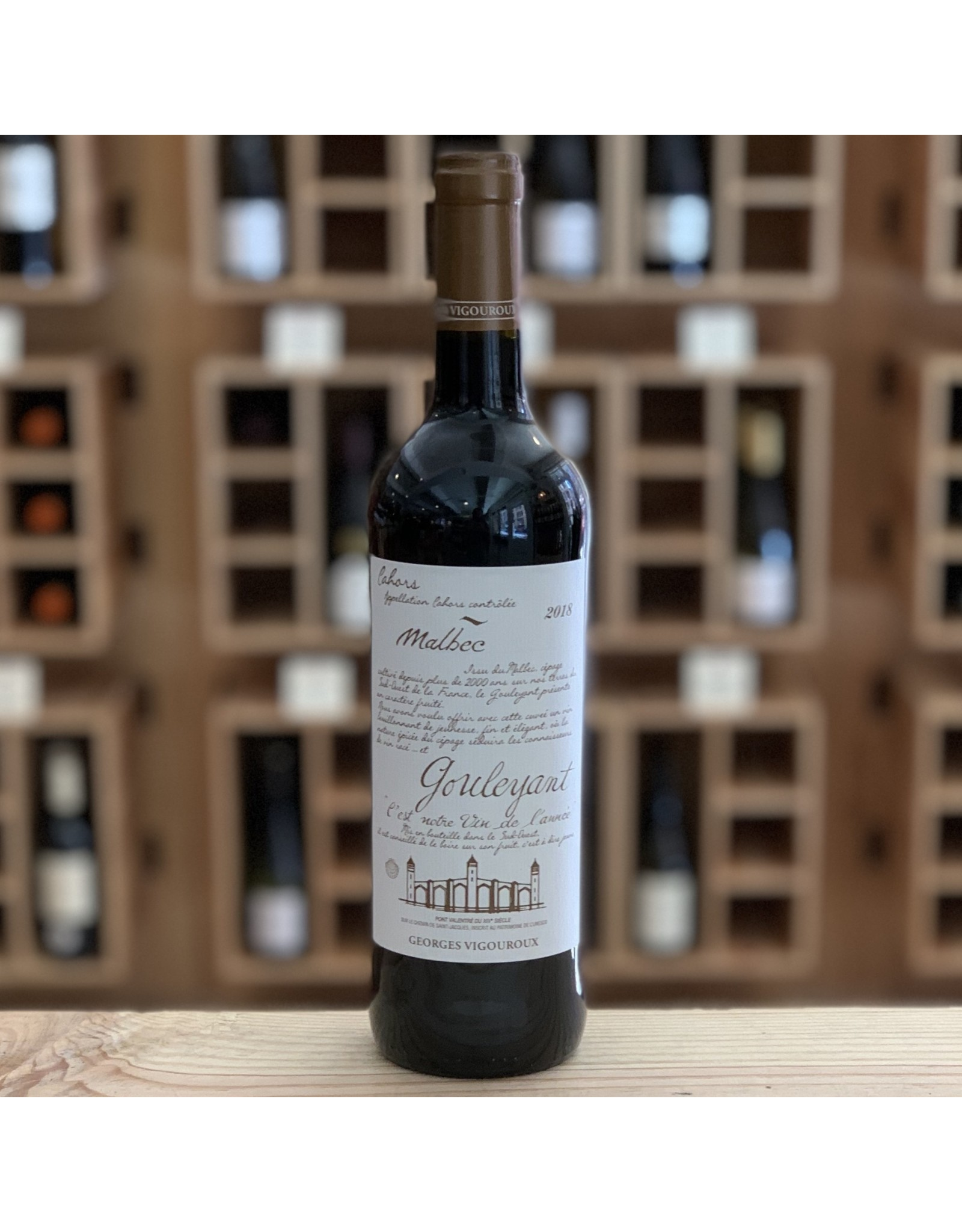 Cahors Georges Vigouroux Cot ''Gouleyant'' Malbec 2018 - Cahors, France