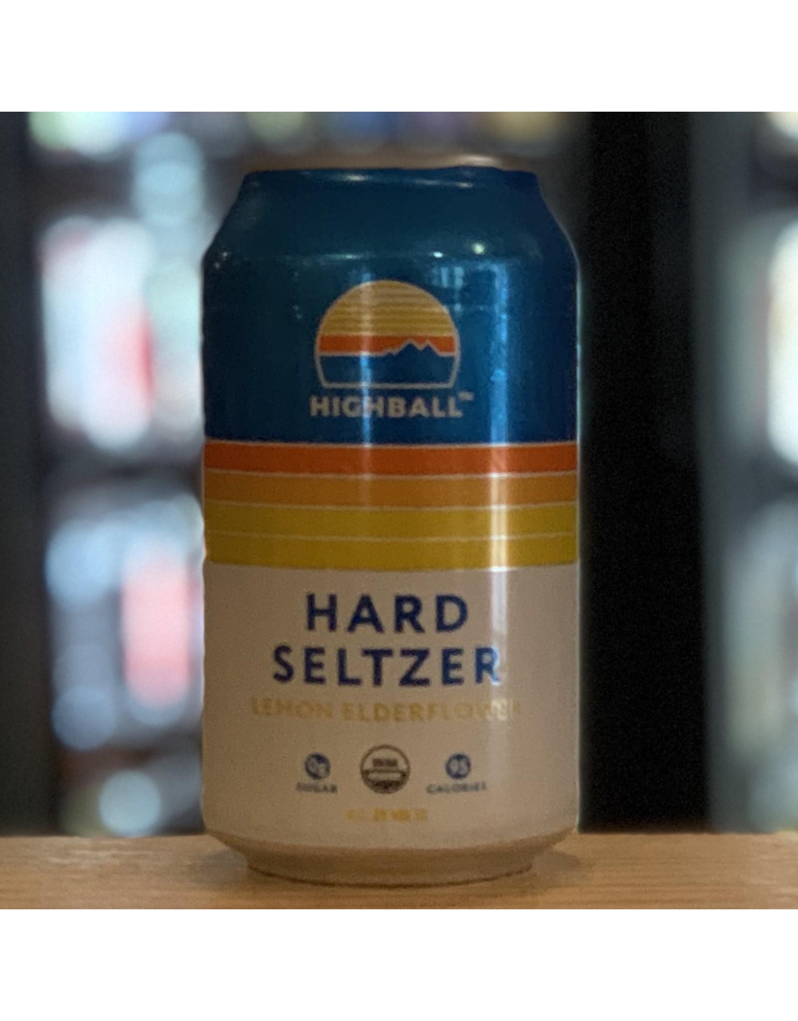 Hard Seltzer Peak Organic Brewing ''Highball'' Hard Seltzer w/Lemon and Elderberry - Portland, ME