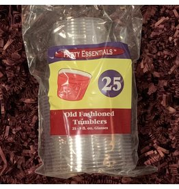 Plastic Wine Glasses 25pk