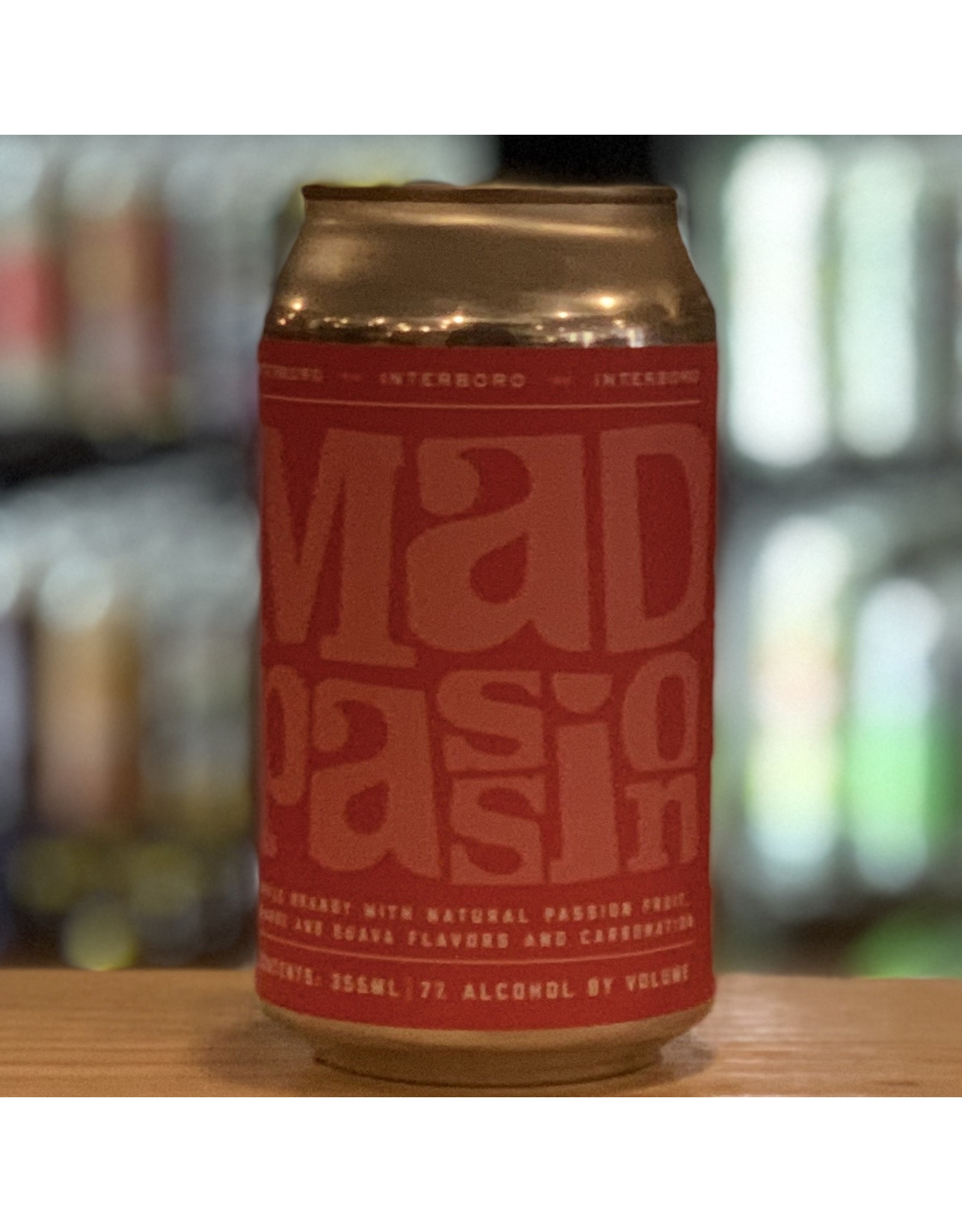 "Interboro Spirits and Ales ""Mad Passion"" RTD Apple Brandy, Passionfruit, Orange, Guava and Carbonation - Brooklyn, NY"