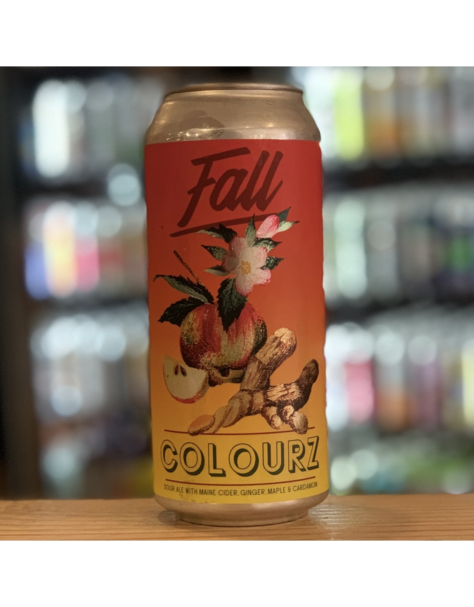 """Sour Bunker Brewing Company """"Fall Colourz"""" Sour Ale w/Maine Cider, Ginger, Maple and Cardamom - Portland, ME"""