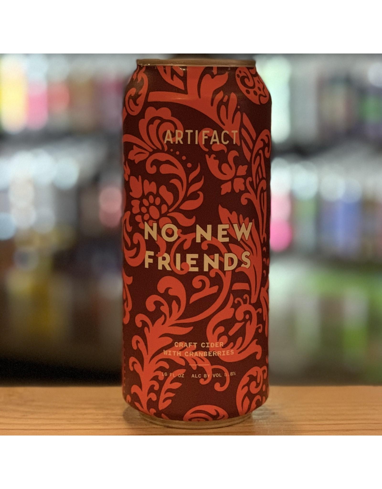 Local Artifact Cider ''No New Friends'' Cider w/Cranberries -