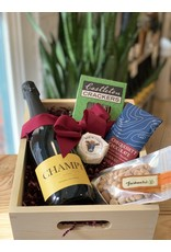 Mayhew's Local Gift Box Featuring Champy Sparkling WIne