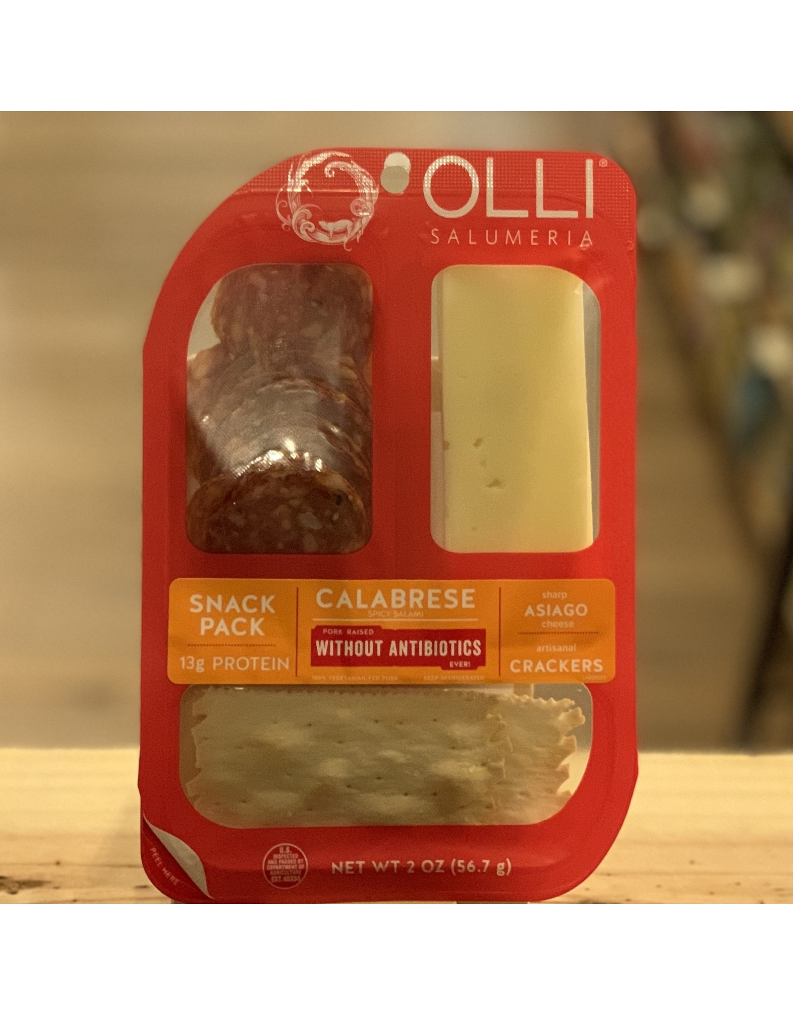 Olli Salumeri Snack Pack w/Calabrese, Asiago and Crackers - Oceanside, CA