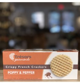 Cracker Tresors Crispy French Crackers w/Poppy and Pepper - France