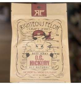 "Meat Righteous Felon Craft Jerky  ""OG Hickory"" Beef Jerky - West Chester, PA"