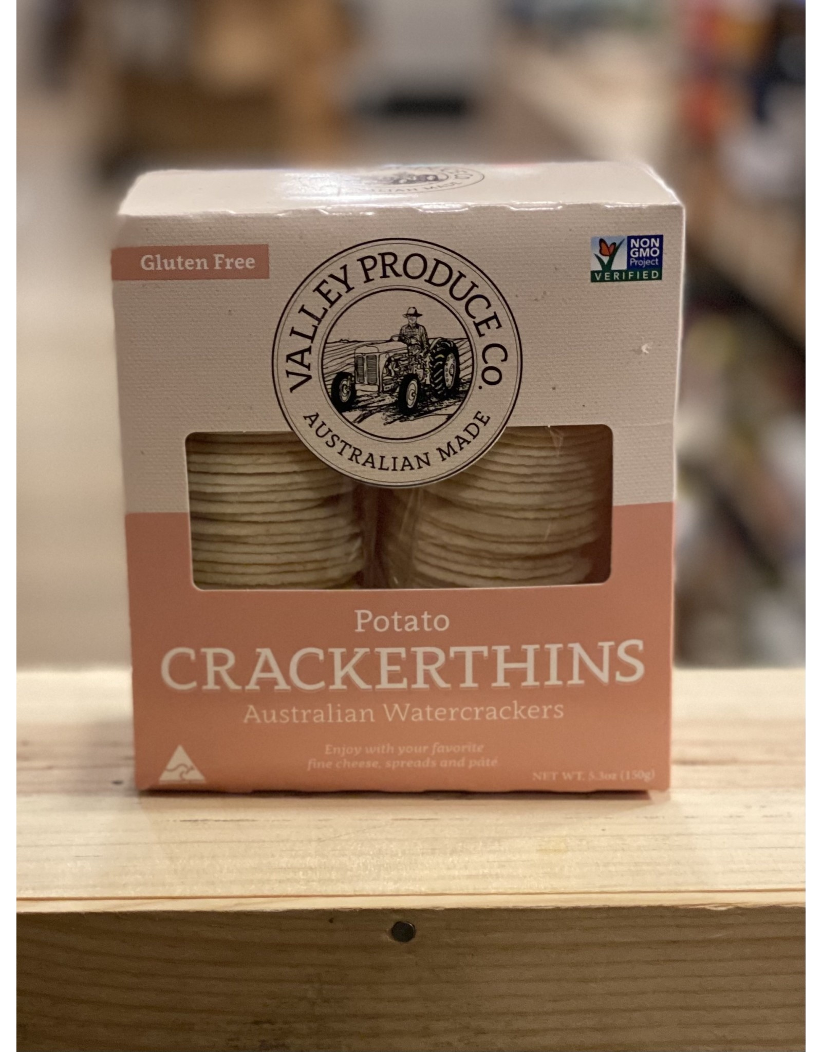 "Cracker Valley Produce Co ""Crackerthins"" Gluten Free Potato Water Crackers - Victoria, Australia"
