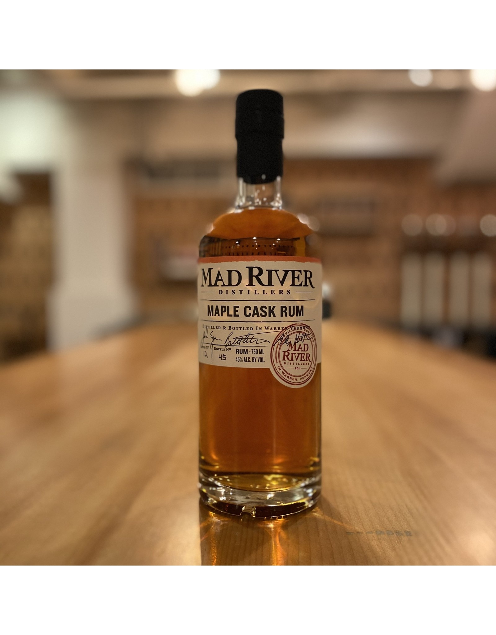 "Local Mad River Distillers ""Maple Cask"" Rum - Warren, Vermont"