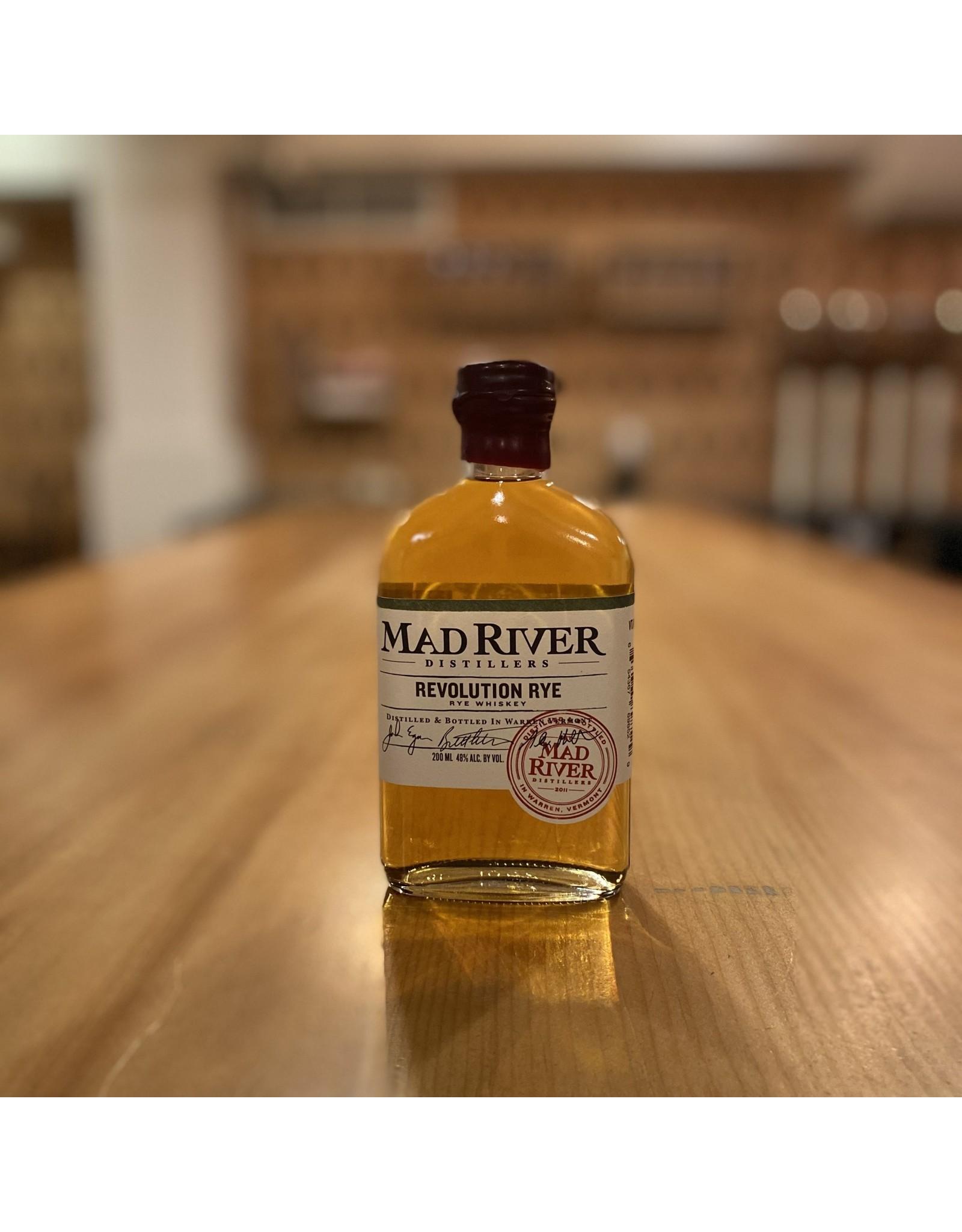 """Local Mad River Distillers """"Revolution"""" Rye Whiskey 200ml - Warren, Vermont"""