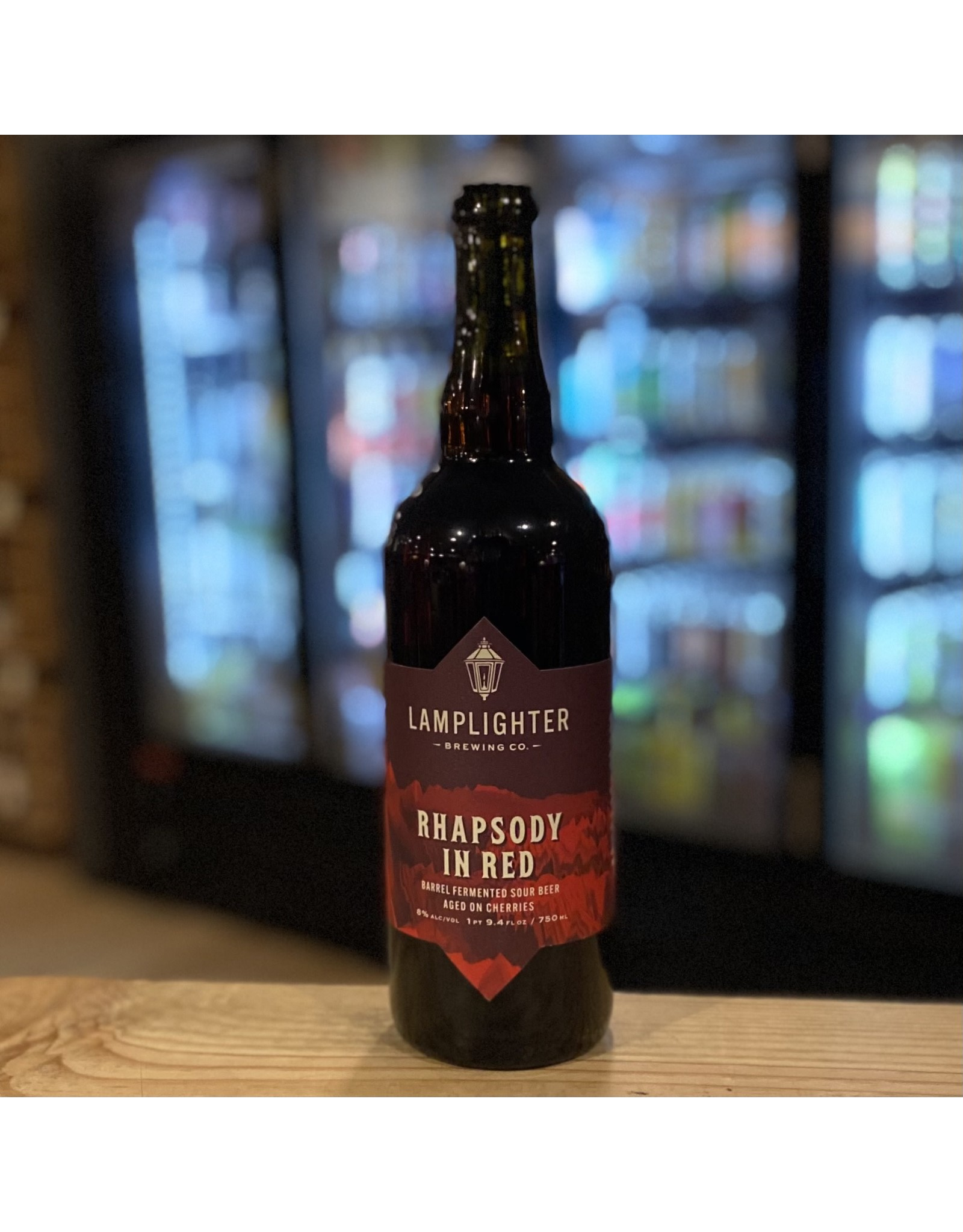 """Sour Lamplighter Brewing Co """"Rhapsody in Red"""" Sour Beer Aged on Cherries 750ml - Cambridge, MA"""