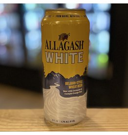 """Wheat Allagash """"White"""" Belgian Style Wheat Beer 16oz Can - Portland, Maine"""
