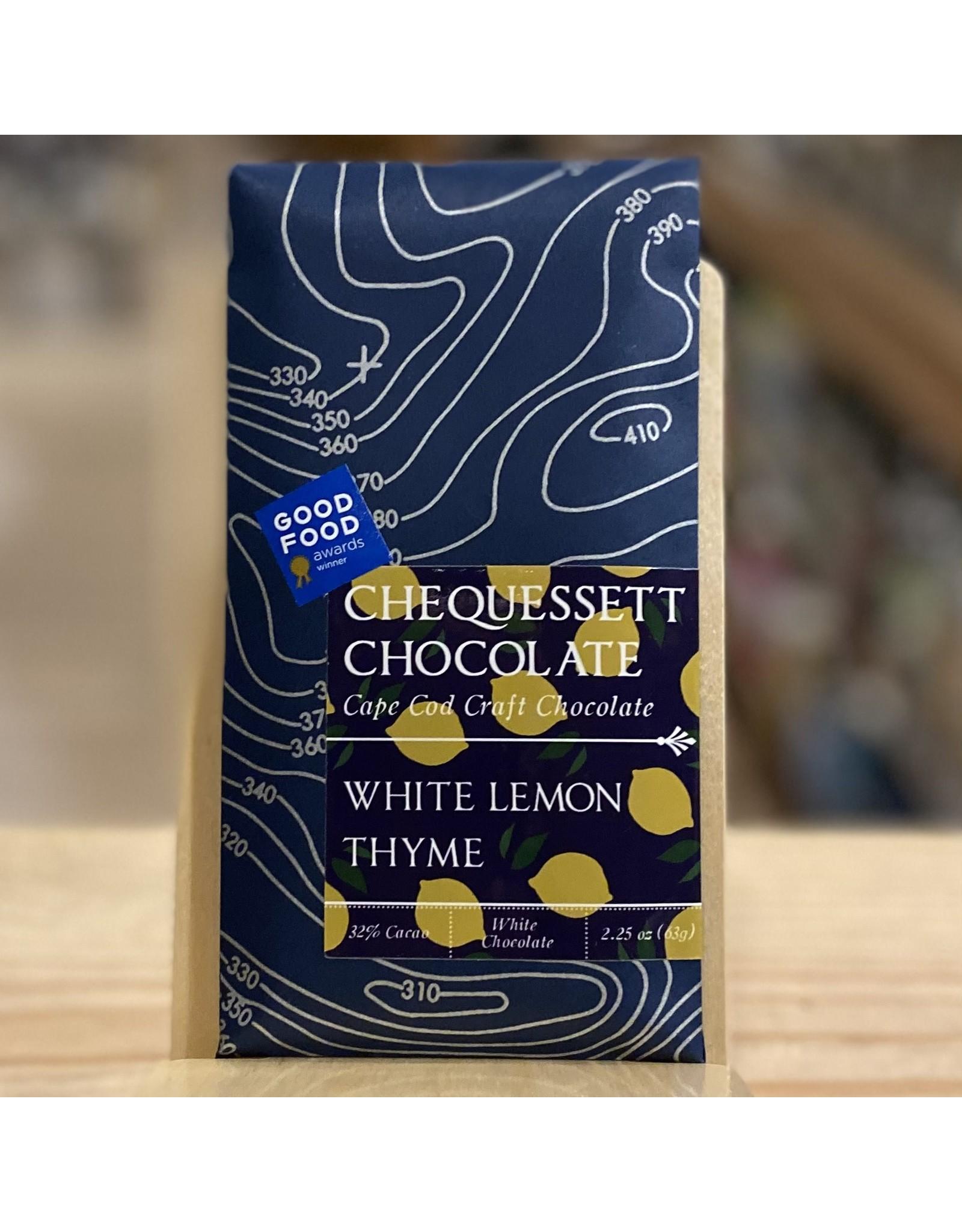 Chocolate Chequessett Chocolate White Chocolate w/Lemon and Thyme - North Truro, MA