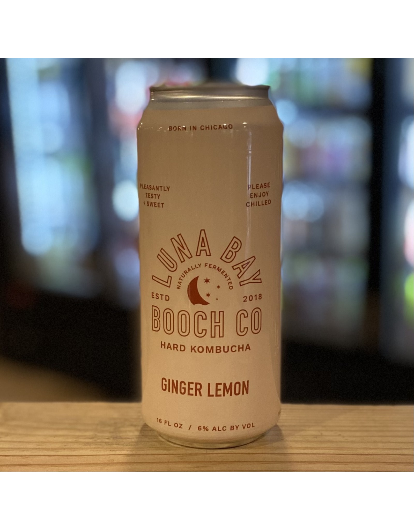 Luna Bay Booch Co Ginger Lemon Hard Kombucha - Denver, CO