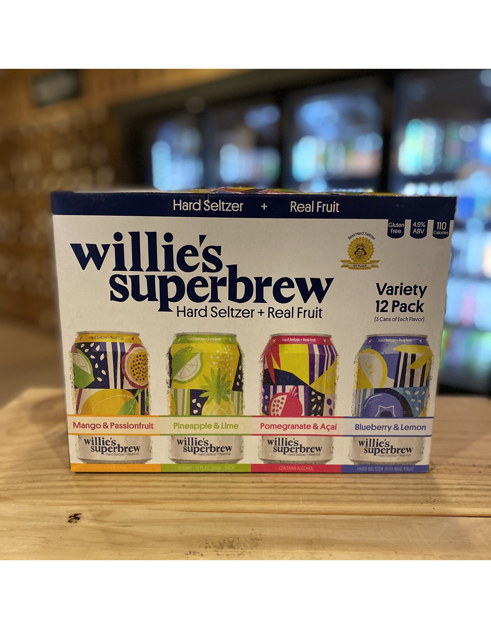Hard Seltzer Willies Superbrew Hard Seltzer Variety 12-Pack - Pawtucket, RI