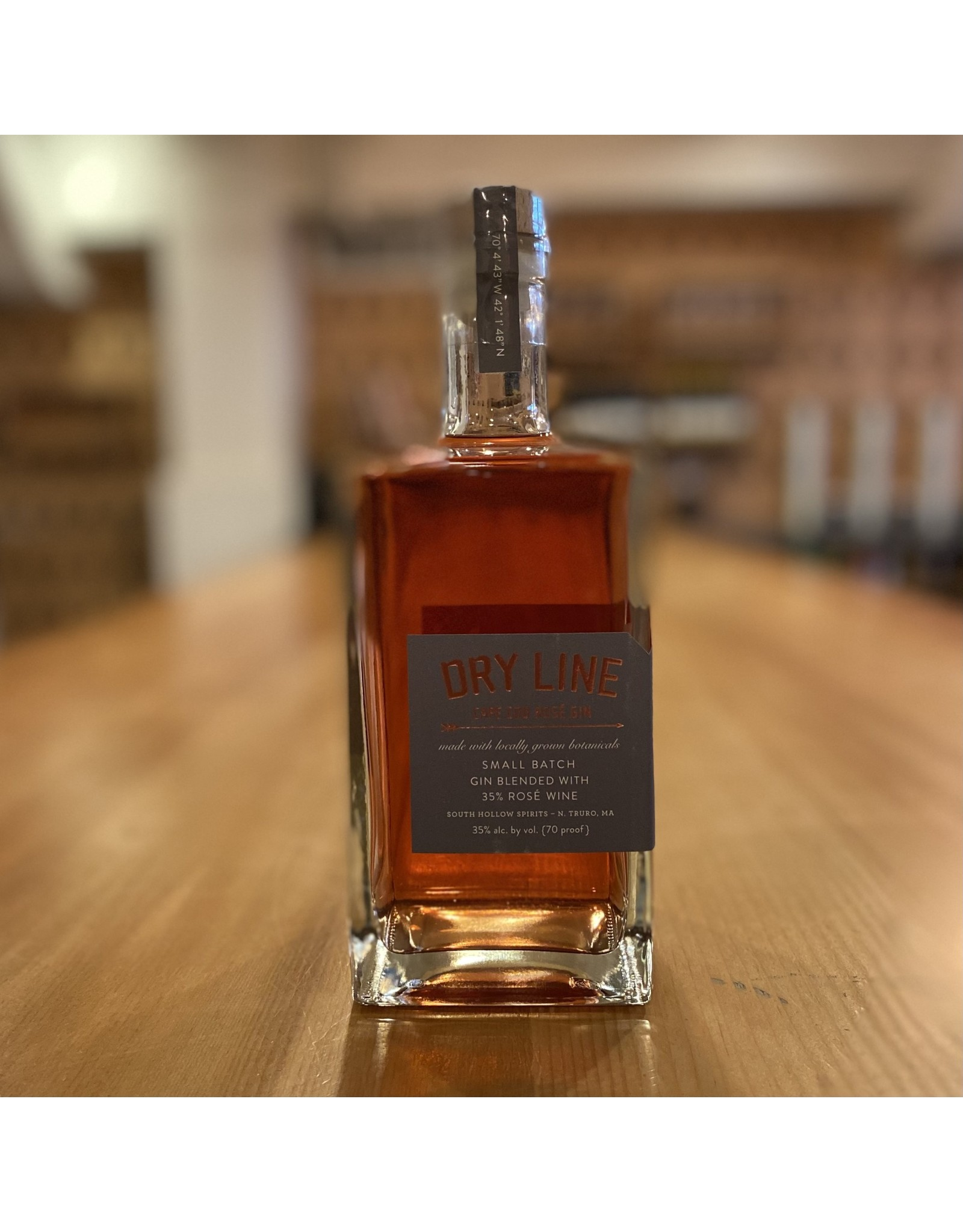 "Local South Hollow Spirits ""Dry Line"" Cape Cod Rosé Gin - North Truro, MA"