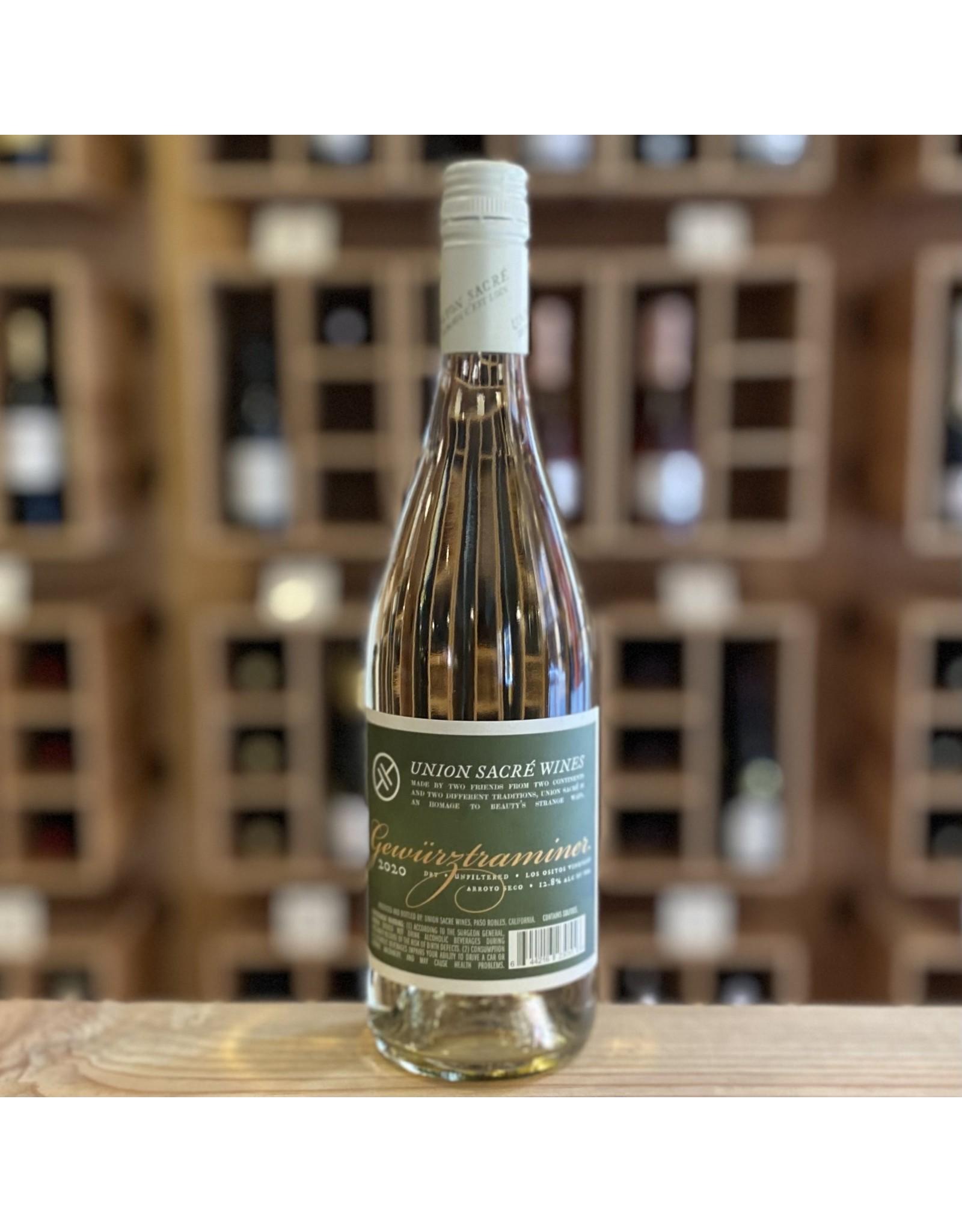 """Paso Robles Union Sacre Wines """"Los Ositos Vineyard"""" Gewurztraminer 2020 - Arroyo Seco, California"""