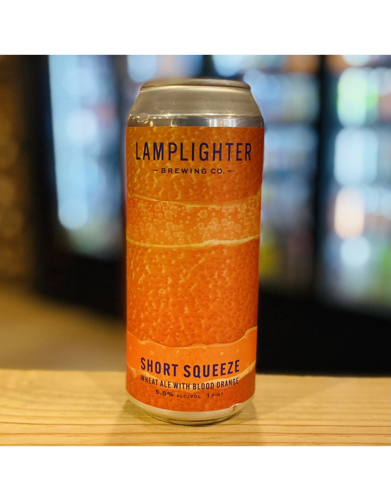 "Ale Lamplighter ""Short Squeeze"" Wheat Ale w/Blood Orange - Cambridge, MA"